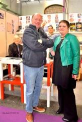 Visite de Thierry HODIAMONT et Sylvie GODEFROID au Stand ACRODACROLIVRES Avec Bruno THOMAS et Laurent NIZETTE