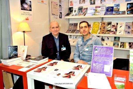 Bruno THOMAS et Laurent NIZETTE Stand ACRODACROLIVRES