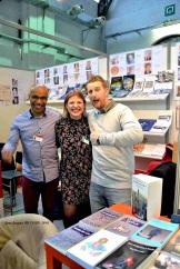 Visite de Julien LAPRAILLE Avec Bou BOUNOIDER et Jessica LEFEVRE au Stand ACRODACROLIVRES